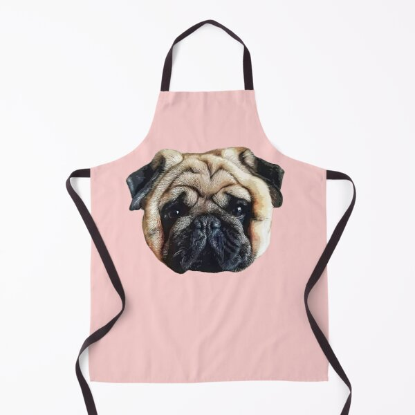 Pug Squishy Cute Dog Face Apron