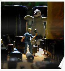 Infestation- penguin Poster