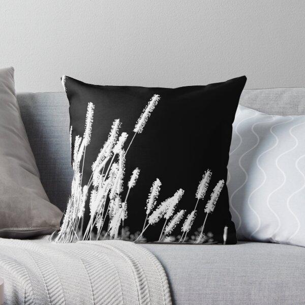 Moonlight Meadowgrass Throw Pillow