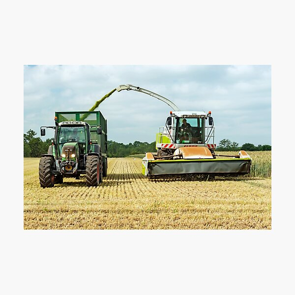 Farm Machinery, Forage Harvesting Photographic Print