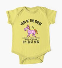 Born Year of The Horse Baby One Piece - Short Sleeve