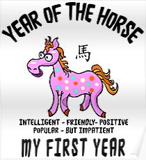Born Year of The Horse Baby Poster