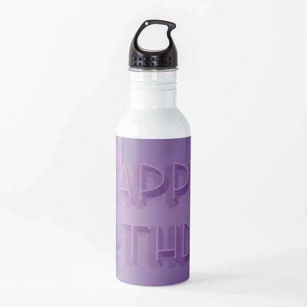 Happy Birthday in Purple Water Bottle