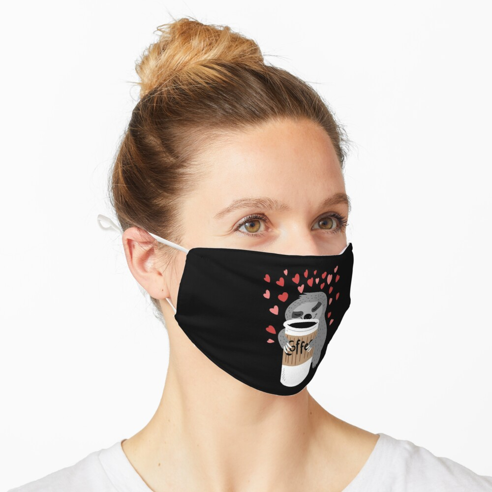 Coffee Sloth Mask