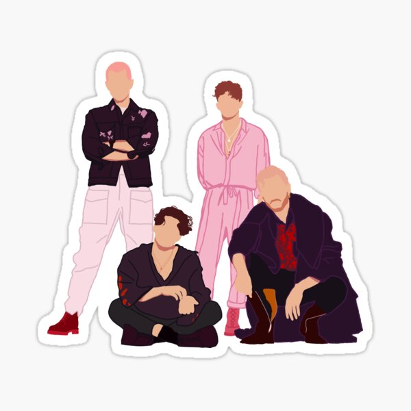 The Vamps photoshoot drawing Sticker