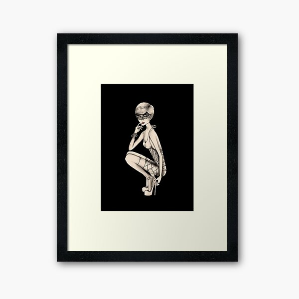 Sexy - Fashion Illustration  Framed Art Print