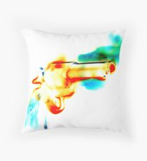 Greek Fire (Negative Edit) Throw Pillow