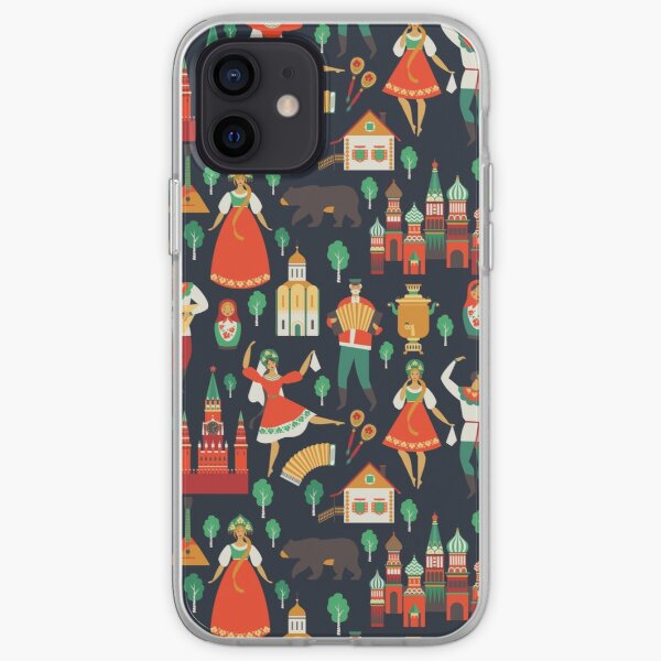 Russian Folk Pattern iPhone Soft Case