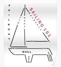 Sailing 101 - The sailboat Poster