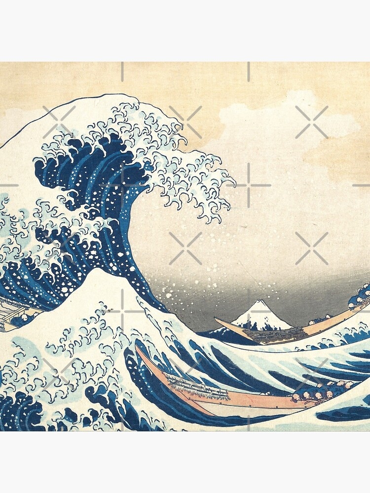 The Great Wave off Kanegawa japanese mask art by animebrands