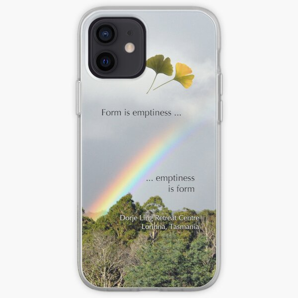 Rainbow over Dorje Ling Retreat Centre. iPhone Soft Case