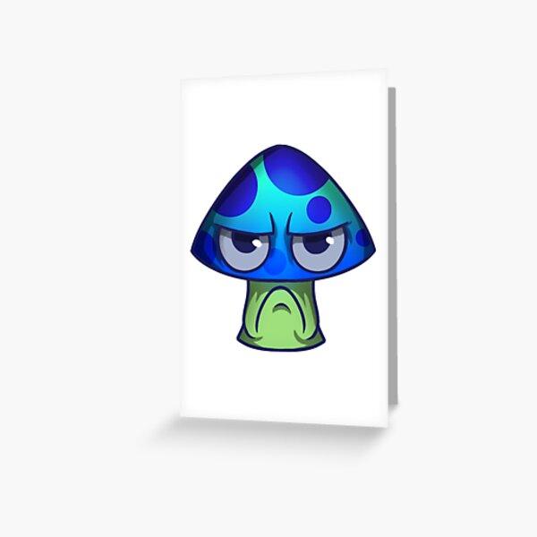 Grumpy Mushroom Greeting Card
