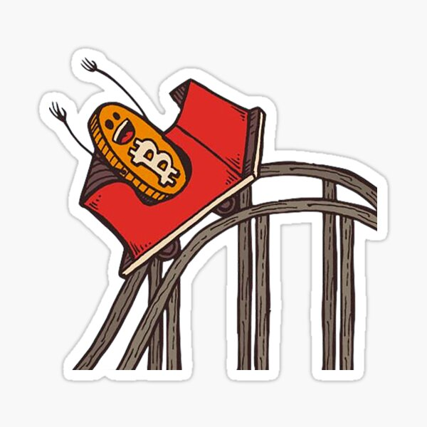 Bitcoin Roller Coaster Sticker