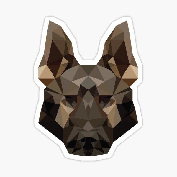 Geometric German Shepherd Sticker