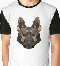 Geometric German Shepherd Graphic T-Shirt