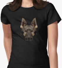 Camiseta entallada para mujer Pastor alemán geométrico