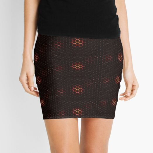 Hexagon magma Mini Skirt