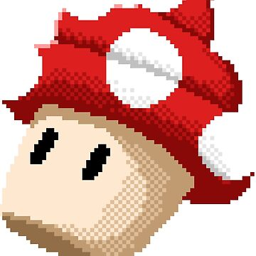 8Bit Mushroom Cupcake by Awful-Things
