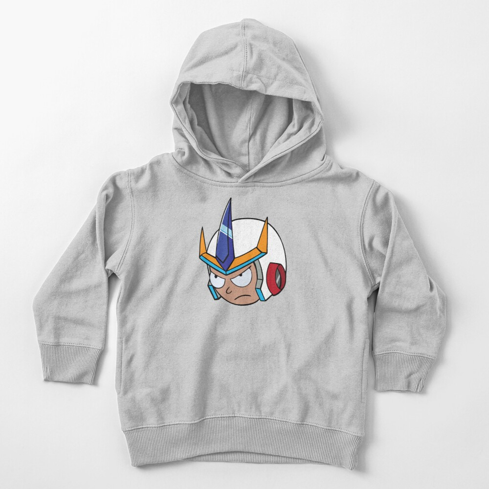Super Cool Rick and Morty™ Morty Head with Combat Armour Helmet   Toddler Pullover Hoodie