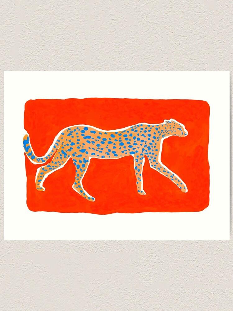 Alternate view of Leopard Orange Art Print