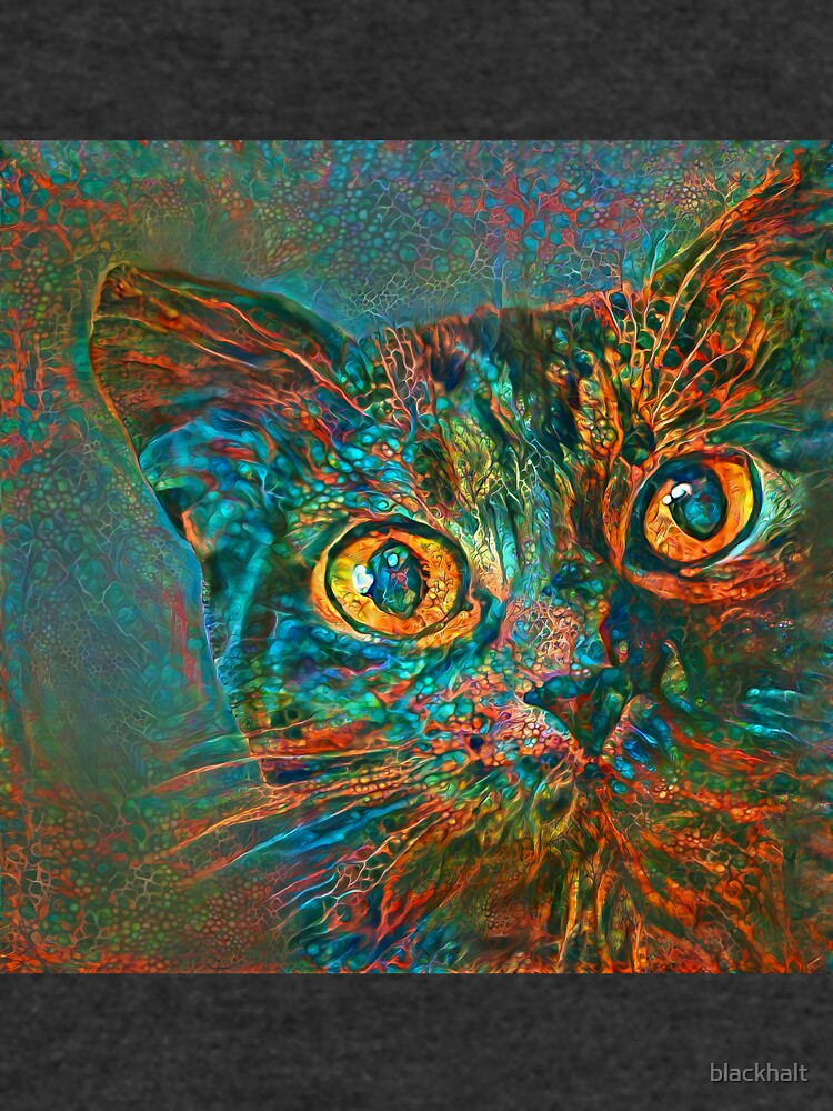 Abstraction of abstract cat look by blackhalt