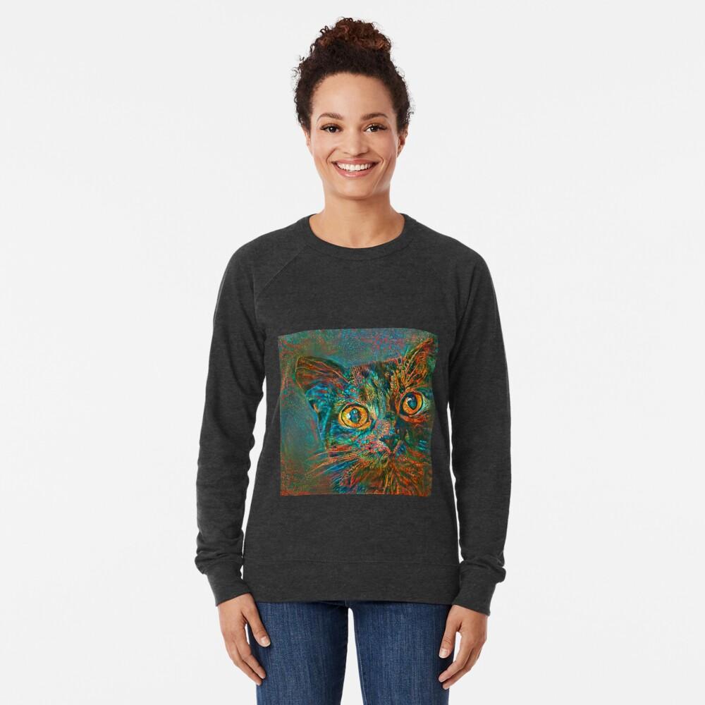 Abstraction of abstract cat look Lightweight Sweatshirt