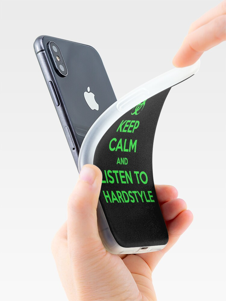 Alternate view of Keep Calm and Listen to Hardstyle iPhone Case & Cover