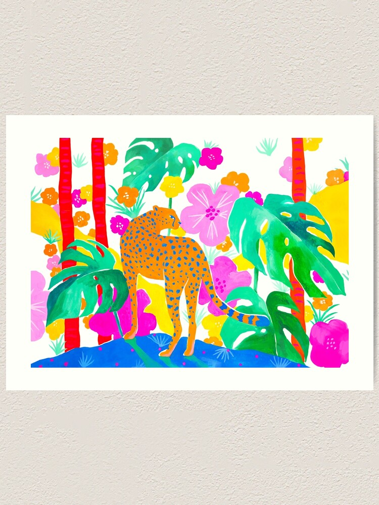 Alternate view of Jaguar in Tropical Garden Art Print