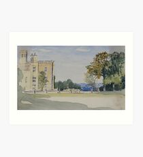 Watercolour of Castle Ashby, Northamptonshire, 1871 Art Print