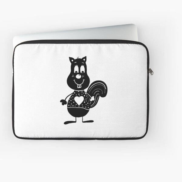Black and white squirrel Laptop Sleeve