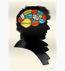 Sherlock Phrenology Poster