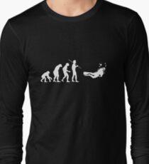 Evolution to Scuba Diver WHITE Long Sleeve T-Shirt