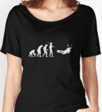 Evolution to Scuba Diver WHITE Women's Relaxed Fit T-Shirt