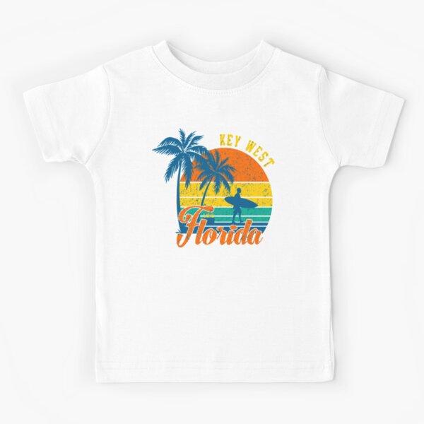 Key West Retro Sunset Florida Kids T-Shirt