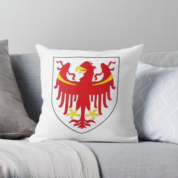 Coat of Arms of South Tyrol  Throw Pillow