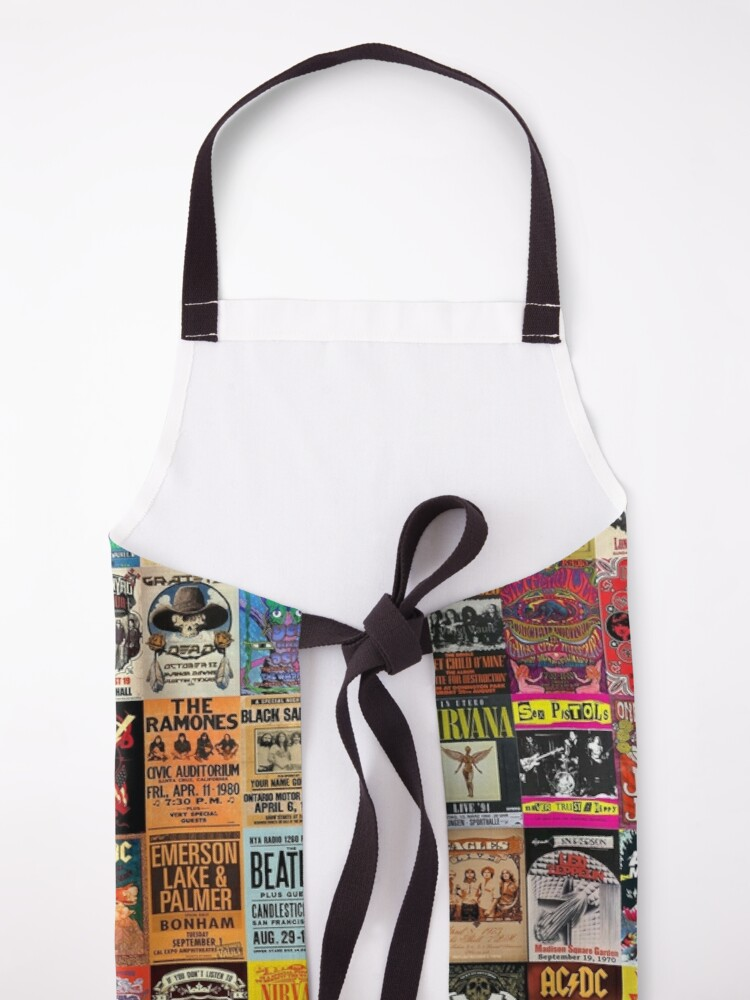 Alternate view of Rock Band Posters Apron