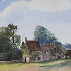 "Watercolour of Little Billing ""priory"" 1871 by NorthantsPast"