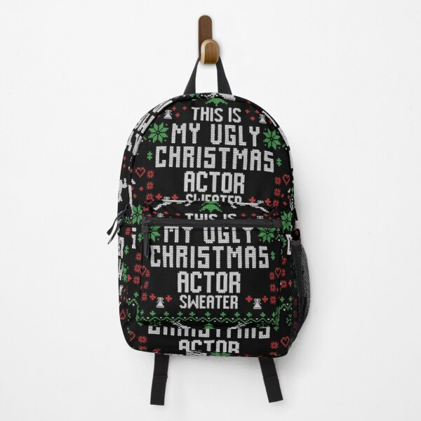 Actor Ugly Christmas Sweater Backpack