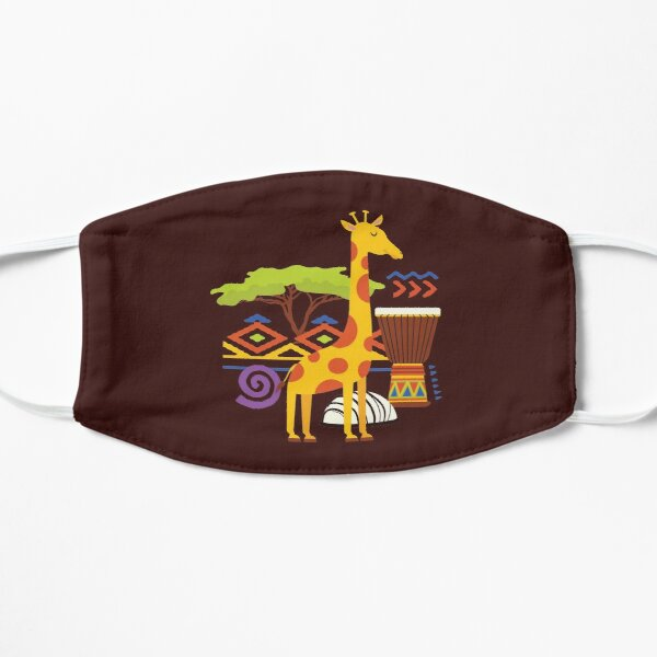 African Animal Lodge Flat Mask