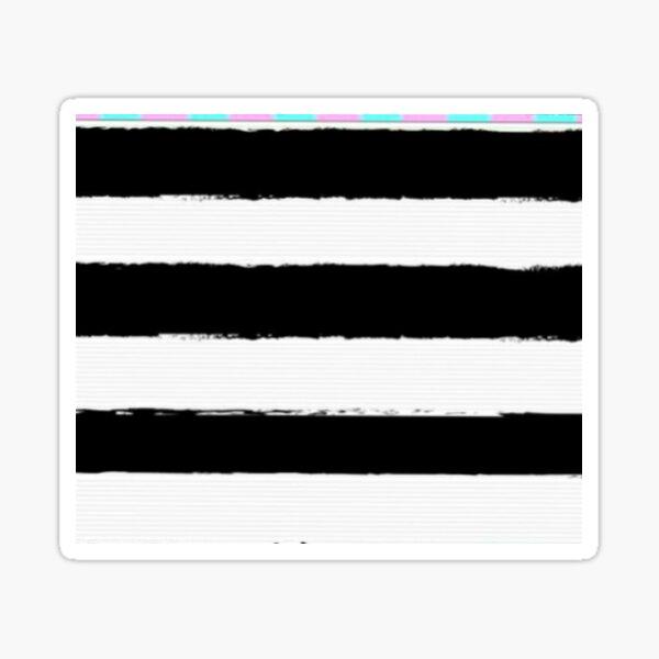 Black and White Linear Design.  Sticker
