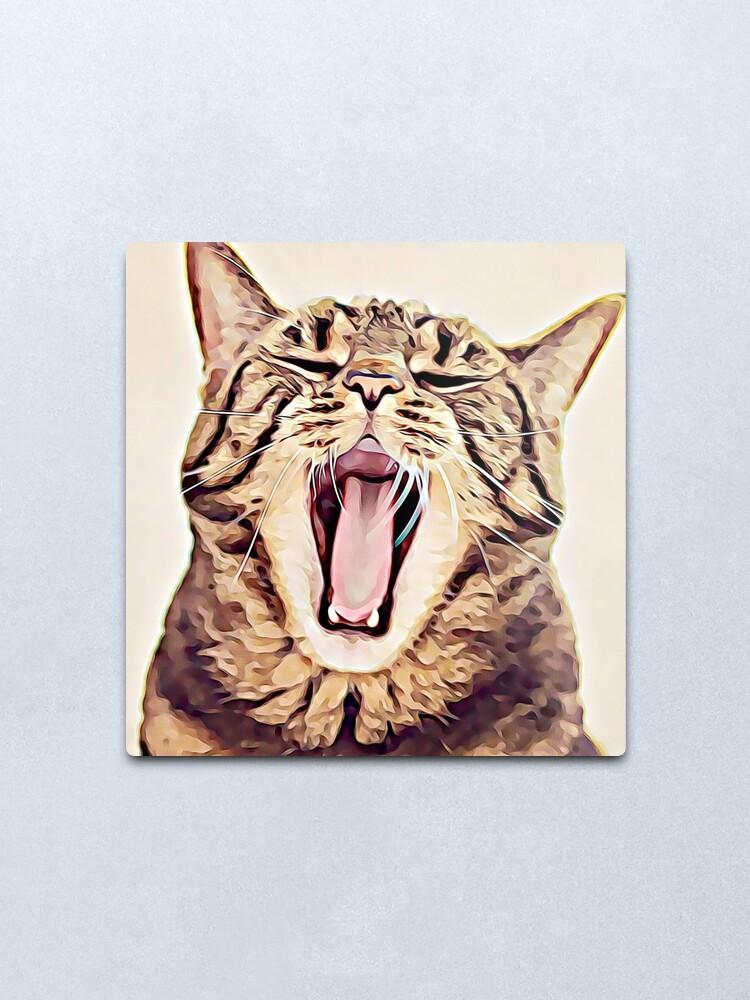 Alternate view of Wild Thing Tabby Cat Art Metal Print