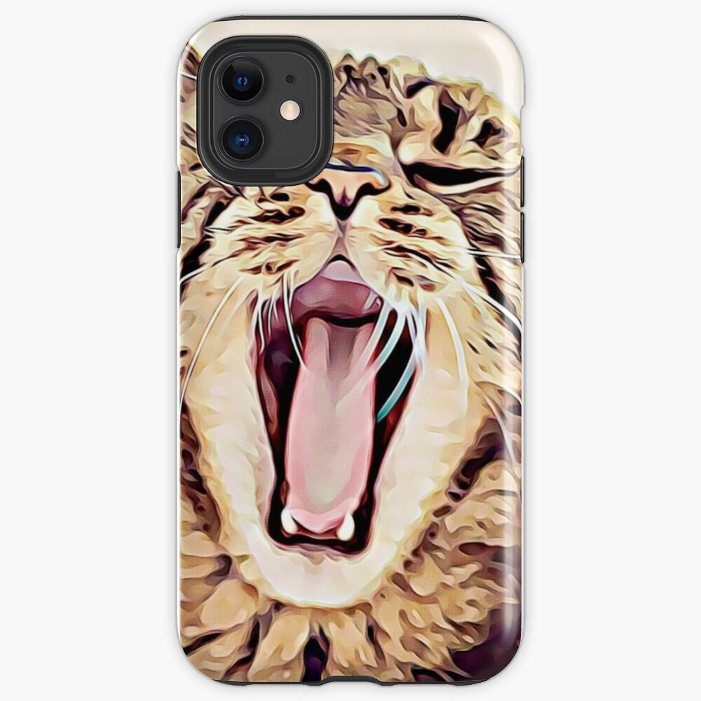 Wild Thing Tabby Cat Art iPhone Case & Cover