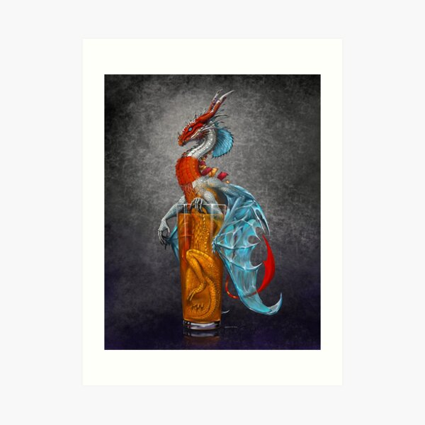 Long Island Iced Tea Dragon Art Print