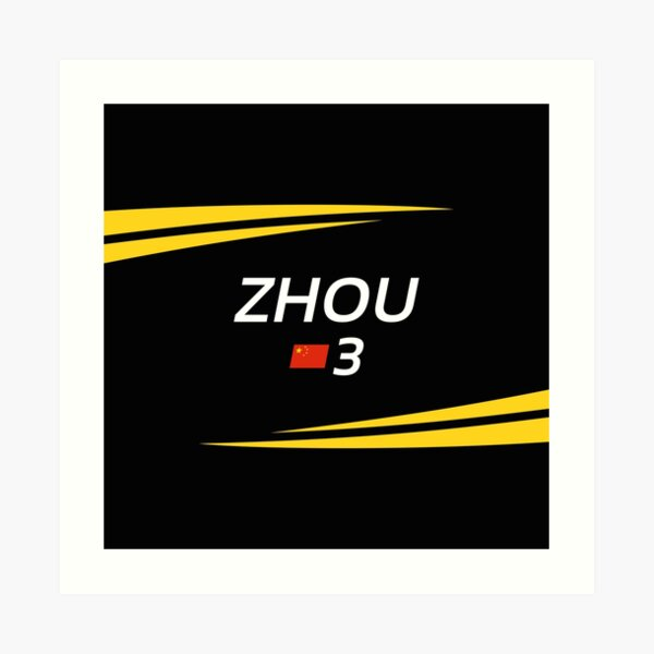 F2 2020 - #3 Zhou [black version] Art Print