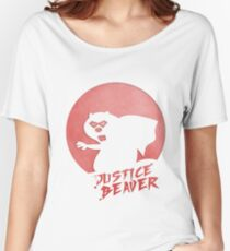 Justice Beaver Women's Relaxed Fit T-Shirt
