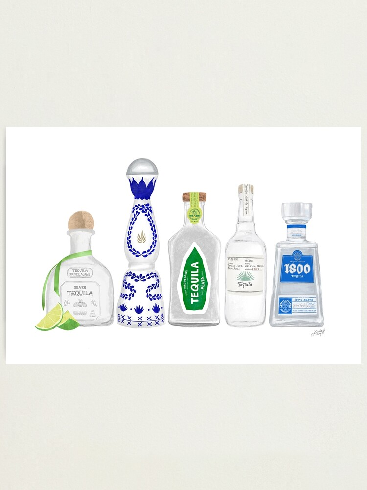 Alternate view of Tequila Bottles Illustration Photographic Print