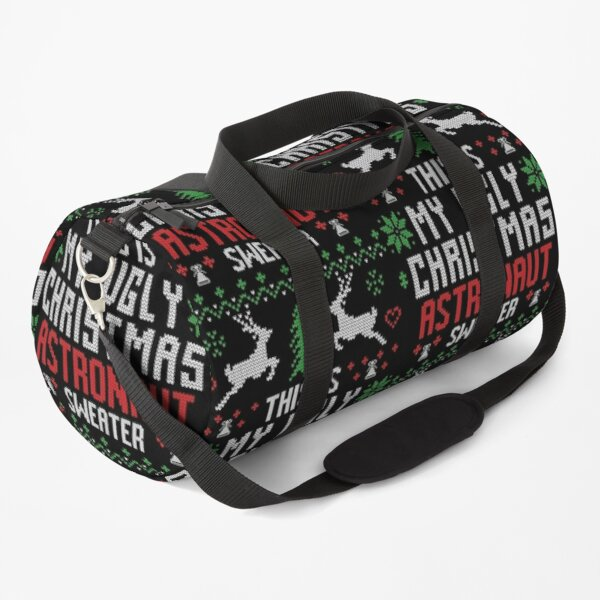 Astronaut Ugly Christmas Sweater Duffle Bag