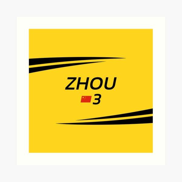 F2 2020 - #3 Zhou [yellow version] Art Print