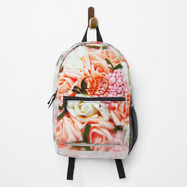Bouquet of roses for the bride Backpack