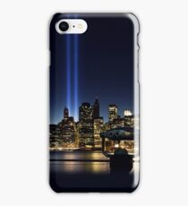 NYC Tribute in Light WTC 9/11 iPhone Case/Skin